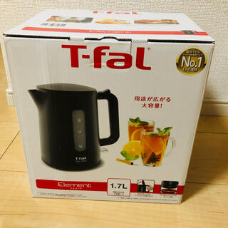 T-fal - ティファール 電子ケトル エレメント ブラック 1.7L