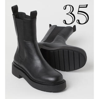 エイチアンドエム(H&M)のH&M ハイプロファイルチェルシーブーツ 35(ブーツ)