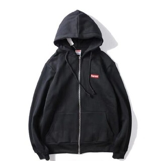 supreme ボックスロゴ パーカー XL ブラック(パーカー)
