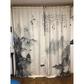 水墨画カーテン レースカーテン セット(カーテン)