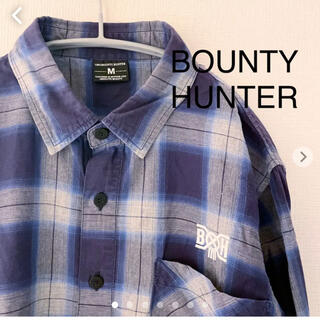 バウンティハンター(BOUNTY HUNTER)のBOUNTY HUNTER バウンティーハンター 長袖 チェックシャツ Mサイズ(シャツ)