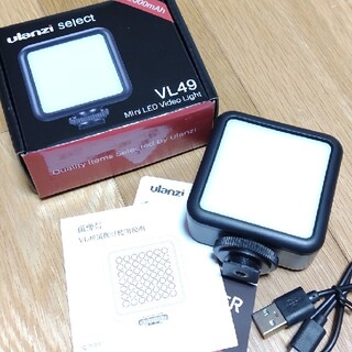 Ulanzi VL49 LED ビデオライト 充電式2000mAh カメラライト