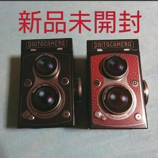 カルディ(KALDI)のレフレックスカメラ缶(菓子/デザート)