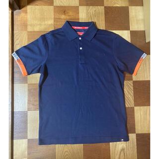 ニューバランス(New Balance)の未使用品 ニューバランス ゴルフ ポロシャツ Lサイズ ネイビー 送料込み(ウエア)