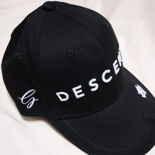 DESCENTE - ブラック デサント ゴルフ キャップ 帽子 新品 メンズ
