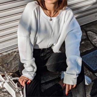 aclent aclent ワッフルポイントショートロンT ホワイト(Tシャツ(長袖/七分))
