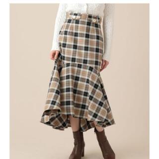ミーアンドミークチュール(me & me couture)のME COUTURE チェックウールマーメイドスカート(ロングスカート)