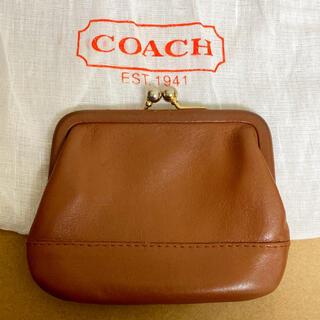 COACH - 【美品】coach オールドコーチ がま口 小銭入れ ブラウン 茶色
