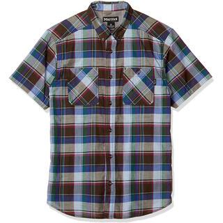 マーモット(MARMOT)のMarmotマーモット シーエルプラッドハーフスリーブシャツ青 メンズS(シャツ)