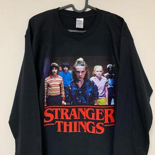 stranger things ロンT ロング Tシャツ 黒
