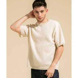 ステュディオス(STUDIOUS)の和紙 カノコ メランジ ニットTEE(Tシャツ/カットソー(半袖/袖なし))