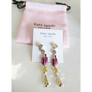 kate spade new york - 【新品】kate spade ケイトスペード ピアス LOVE BUGS マゼン