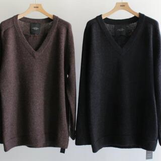UNUSED - unused 5G v neck knit/ニット セーター