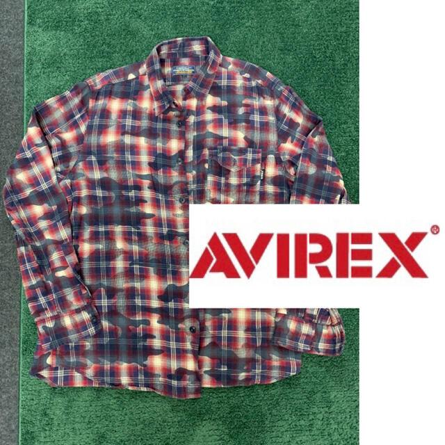 AVIREX(アヴィレックス)のアヴィレックス チェックシャツ 迷彩 メンズのトップス(ポロシャツ)の商品写真