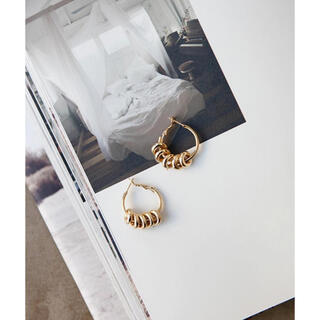 room306 CONTEMPORARY - Many Ring Loop Pierce gold ゴールドフープピアス