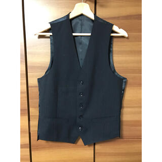 ベスト ジレ メンズ ネイビー 美品 カジュアル ビジネス ドレス フォーマル