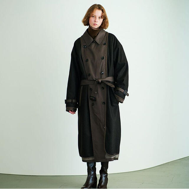 1LDK SELECT(ワンエルディーケーセレクト)のyoke reversible trench coat  メンズのジャケット/アウター(トレンチコート)の商品写真