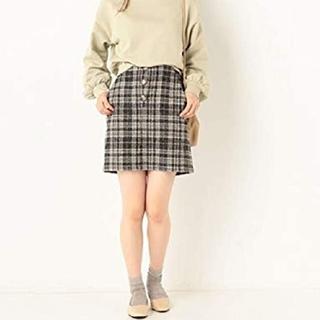 アルシーヴ(archives)のarchives フロントボタン 台形スカート(ミニスカート)