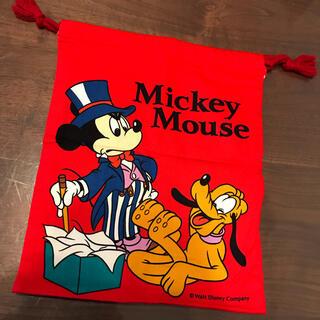ディズニー(Disney)の【新品】巾着袋 ミッキーマウス(体操着入れ)