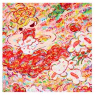 ロッカクアヤコ バンダナ 魔法の手 大きなバンダナ 手ぬぐい てぬぐい(アート/エンタメ)