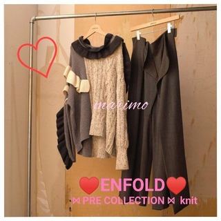 ENFOLD - 【美品】《♡ENFOLD♡》PRE COLLECTION ニット〈T/GRY〉
