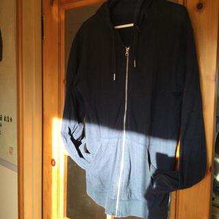 GU - パーカー GU ジーユー 紺 ネイビー メンズ トップス 綿100% 長袖わ