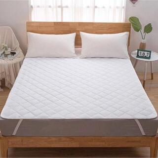 敷きパッド シングル ベッドパッド 洗える 表地綿100% 肌触り抗菌防臭加工(敷パッド)