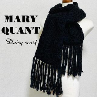 MARY QUANT - 未使用 MARY QUANT マフラー スカーフ ショール 黒 マリークワント