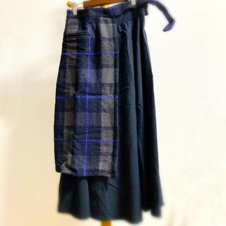 STUDIOUS - UNITED TOKYO◆チェックラップスカート