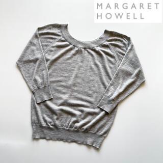 マーガレットハウエル(MARGARET HOWELL)のマーガレットハウエル ジョンスメドレー ハイゲージUネックニット グレー 2(ニット/セーター)