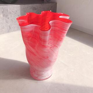 アートグラス アンティークフラワーベース ガラス 花瓶
