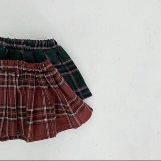 lalaland check skirt 韓国子供服 セール品(スカート)
