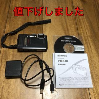 OLYMPUS - GPS防水カメラ TG-830 TOUGH 黒