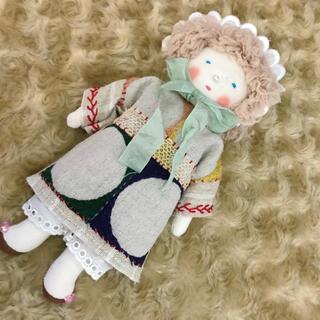 ミナペルホネン(mina perhonen)のほのぼのドールほのちゃん ミナペルホネン アンティークレース 布人形 09(人形)