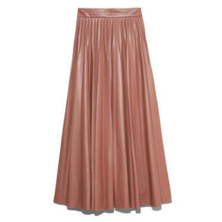 snidel - SNIDEL レザープリーツスカート ピンク 1サイズ