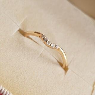 agete - agete K10 ピンキー リング ダイヤ ダイア ダイヤモンド  アガット