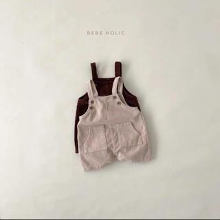 bebeholic リブサロペット 韓国子供服(パンツ)