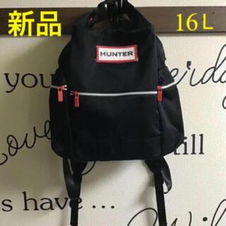HUNTER - HUNTER リュック♦ブラック♦新品・タグ付き♦正規品♦16L♦黒♦ハンター
