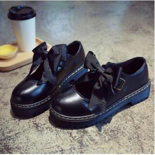 レディース 革靴 リボン付きローファー パンプス エナメル調♪(ローファー/革靴)