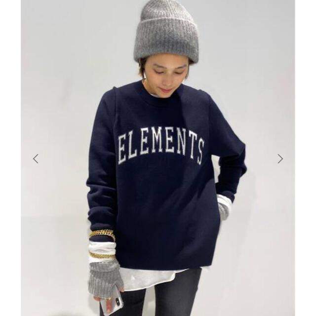L'Appartement DEUXIEME CLASSE(アパルトモンドゥーズィエムクラス)の完売 AP STUDIO ELEMENTS ニットプルオーバー レディースのトップス(ニット/セーター)の商品写真