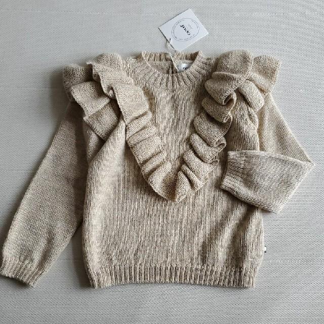 Caramel baby&child (キャラメルベビー&チャイルド)の6-7Y*oeuf NY ベビーアルパカニット セーター キッズ/ベビー/マタニティのキッズ服女の子用(90cm~)(ニット)の商品写真
