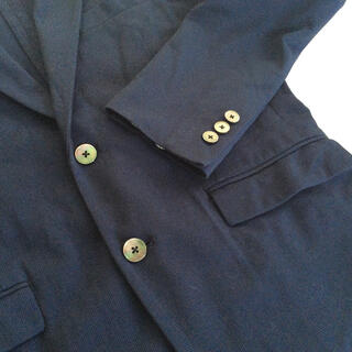 エディフィス(EDIFICE)のEDIFICE メンズ カジュアルジャケット ネイビー Mサイズ(テーラードジャケット)