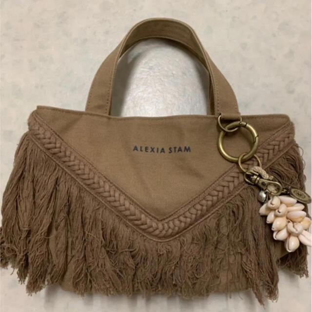 ALEXIA STAM(アリシアスタン)のアリシアスタン フリンジトートバッグとキーチェーンSET レディースのバッグ(トートバッグ)の商品写真