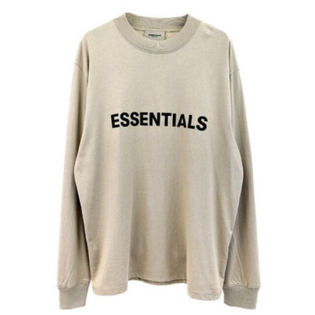 FEAR OF GOD(フィアオブゴッド)のSサイズ タン essentials long sleeve tシャツ メンズのトップス(Tシャツ/カットソー(七分/長袖))の商品写真