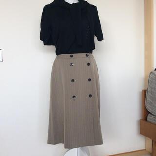 グリーンレーベルリラクシング(green label relaxing)のGLR トレンチスカート XLサイズ(ひざ丈スカート)