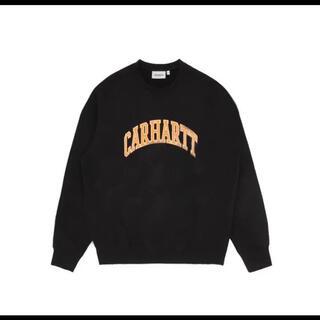 carhartt - カーハート トレーナー ビッグロゴ ブラック L