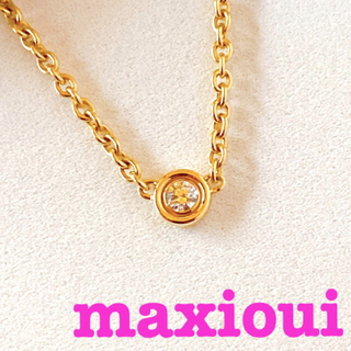 Dior - お値下げ中【Dior】ディオール マキシウィネックレス YG×ダイヤモンド