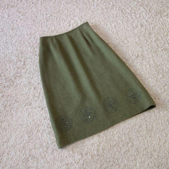 23区(ニジュウサンク)の23区/刺繍ウールスカート レディースのスカート(ひざ丈スカート)の商品写真