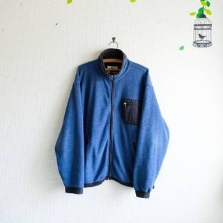 STUSSY - 古着 90年代 STUSSY フリース ジャケット M ブルー
