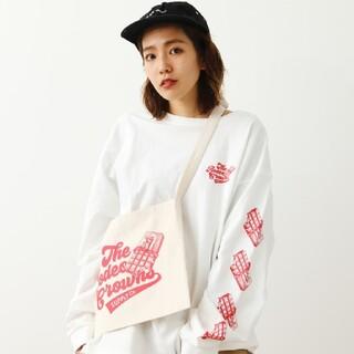ロデオクラウンズワイドボウル(RODEO CROWNS WIDE BOWL)の新品ホワイトMサイズ(Tシャツ(長袖/七分))